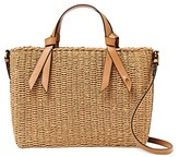 Thumbnail for your product : Etienne Aigner Luca Medium Boxy Straw Beach Satchel