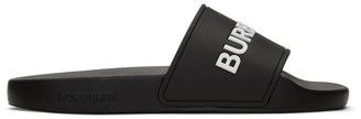 Burberry Black Logo Kingdom Furley Slides