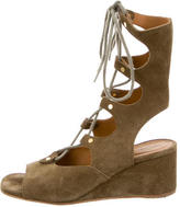 Chloé Lace-Up Gladiator Wedge Sandals