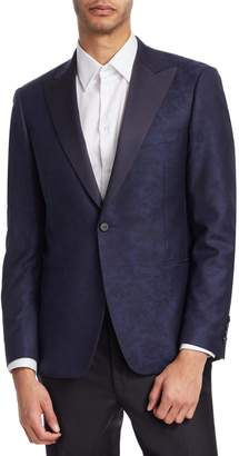 Saks Fifth Avenue BY SAMUELSOHN Classic-Fit Floral-Print Wool Dinner Jacket