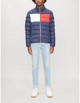 Tommy Jeans Logo-print shell-down jacket