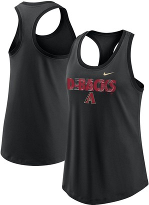 Nike Women's Black Arizona Diamondbacks Let's Go Racerback Performance Tank Top