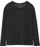 Majestic Striped Cotton And Cashmere-Blend Jersey T-Shirt