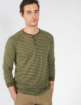 Fat Face Fine Stripe Henley T-Shirt