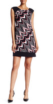 Maggy London Print Block Shift Dress