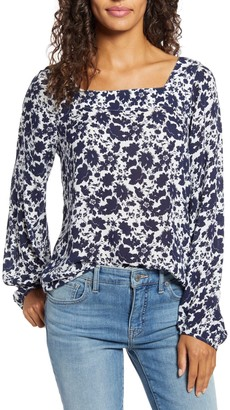 Lucky Brand Liane Floral Blouse