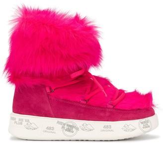 Premiata Faux-Fur Suede Boots