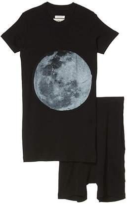 Nununu Full Moon Loungewear (Little Kids/Big Kids) (Black) Boy's Active Sets