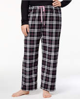 Hue Plus Size Snuggly Fleece Plaid Pajama Pants
