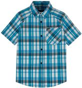 Hurley Boys 4-7 Plaid Short Sleeve Button-Down Shirt
