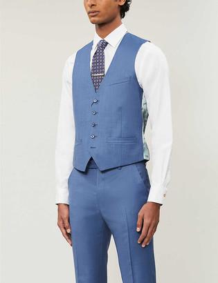Ted Baker Debonair regular-fit sharkskin wool waistcoat