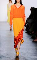 Prabal Gurung Charmeuse Colorblocked Skirt