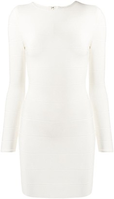 Herve Leger Fitted Panelled Cocktail Dress