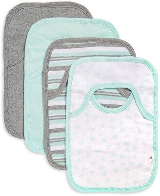 Burt's Bees Sixties Stripe Organic Baby Pull On 4 Pack Bibs