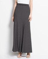 Ann Taylor Tall Mitered Stripe Maxi Skirt