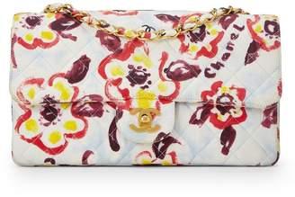 Chanel Multicolor Floral Cotton Classic Flap Medium