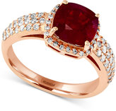 Effy Rosa by Ruby (3-1/8 ct. t.w.) and Diamond (1/2 ct. t.w.) Ring in 14k Rose Gold