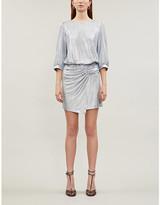BA&SH Zalina asymmetric lame mini dress