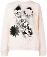 Christopher Kane stencil floral sweatsshirt