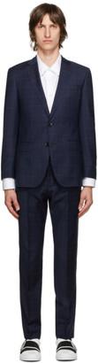 HUGO BOSS Navy Checked Huge6 Genius5 Suit