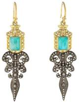 Armenta Diamond & Multistone Old World Fleur de Lis Earrings