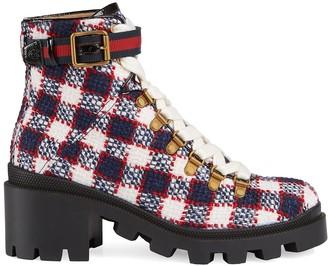 Gucci Tweed Boots