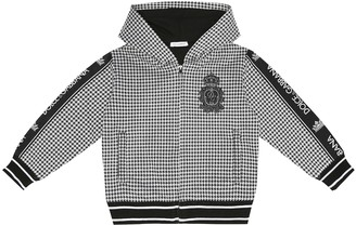 Dolce & Gabbana Kids Checked cotton-blend hoodie