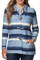 Chaps Plus Striped Hooded Sweater