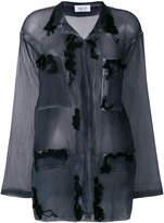 Aviu sheer long-sleeved shirt