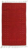 Novica Handcrafted 'Fire in the Sky' Red Zapotec Wool Rug (2.5 x 5) (Mexico)