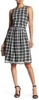 Alexia Admor Gathered Check Pattern Dress