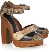 Marni Two-tone snake sandals