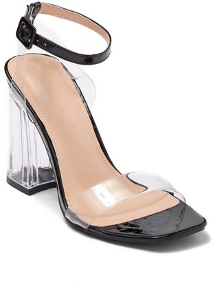 Wild Diva Lounge Miley Square Toe Clear Sandal