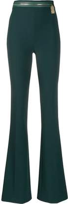 Elisabetta Franchi colour block flared trousers