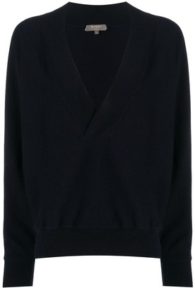 N.Peal deep V-neck batwing cashmere sweater