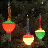 Asstd National Brand Set Of 7 Multi-Color Retro Christmas Bubble Lightswith Green Wire