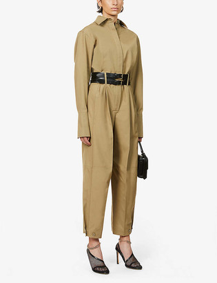 Givenchy Pleated cotton jumpsuit
