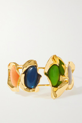 EJING ZHANG Effie Gold-plated And Resin Cuff - one size