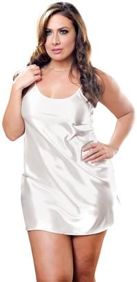 iCollection Women's Plus-Size Satin Chemise