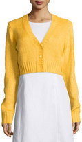 Michael Kors Button-Front Cropped Cardigan, Daffodil