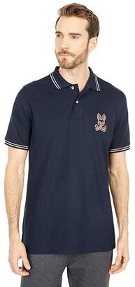 Psycho Bunny Hindlow Polo (Navy) Men's Clothing
