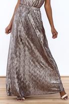 She + Sky Metallic Maxi Skirt