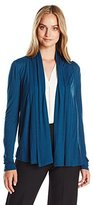 Ellen Tracy Women's Knit Drape Front Cardigan