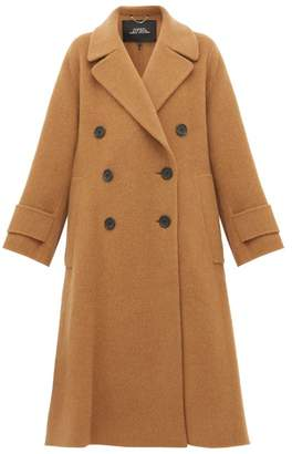 Marc Jacobs Double-breasted Alpaca-blend Trapeze Coat - Womens - Camel