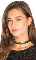 joolz by Martha Calvo Chain Wrap Choker in Metallic Gold.