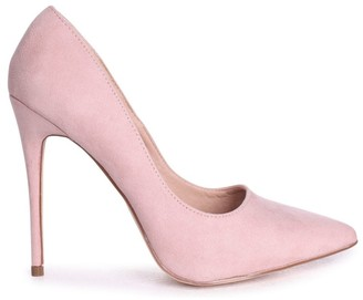 Linzi ASTON - Nude Suede Classic Pointed Court Heel