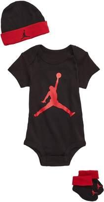 Nike Jumpman Bodysuit, Hat & Booties Set