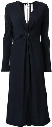 Dion Lee cut-detail long sleeve dress