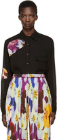 Christopher Kane Black Floral Cut-out Shirt