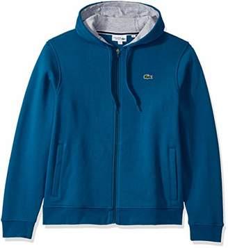 Lacoste Men's Sport Fleece Zip Up Hooded Sweatshirt